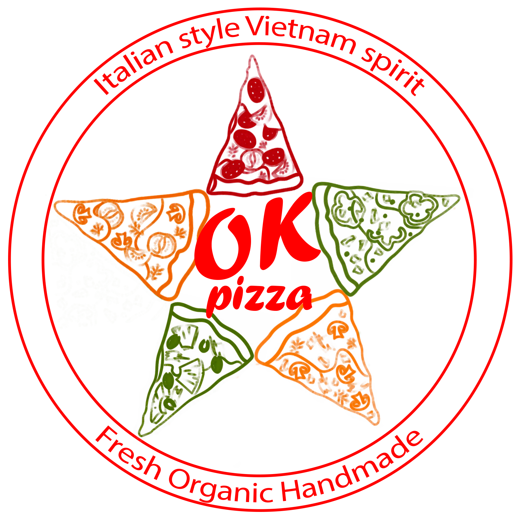 Ok Pizza Logo